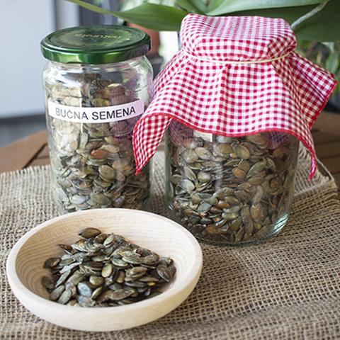 Pečena slana bučna semena